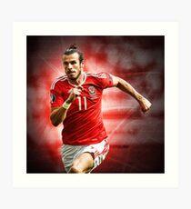 Gareth Bale - Wales Art Print