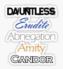 Divergent Factions Sticker