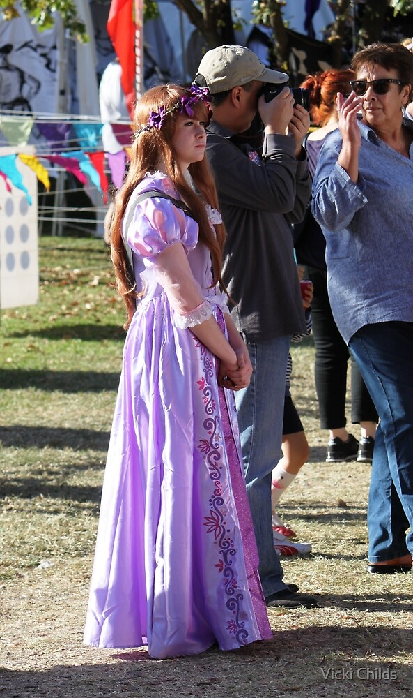 Fair Maiden - Pretty in Purple by Vicki Childs
