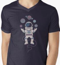 Der Jongleur T-Shirt mit V-Ausschnitt