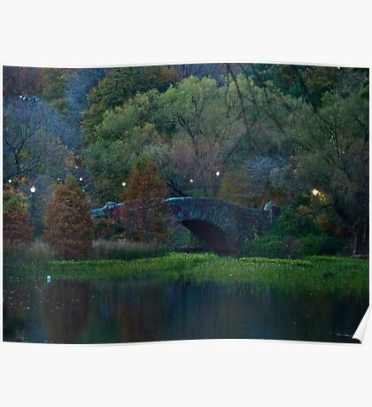 Twilight at Central Park Poster