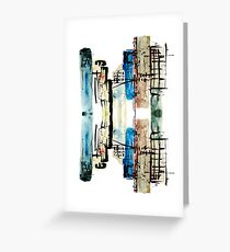 Cityscape Reflection Greeting Card