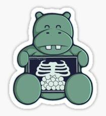 The Hippo who was hungrier Sticker
