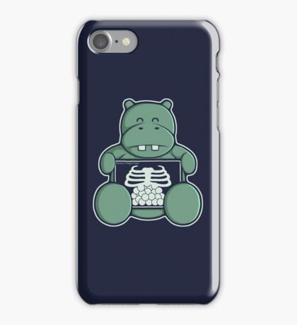 The Hippo who was hungrier iPhone Case/Skin