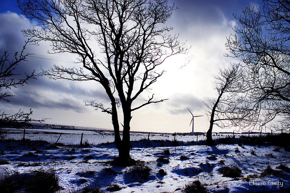 Winter snow Scottish landscape by Elaine Carty