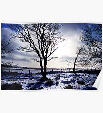 Winter snow Scottish landscape Poster