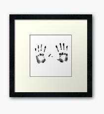 Handprint Framed Print