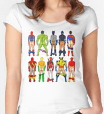 Superhero Butts Women's Fitted Scoop T-Shirt