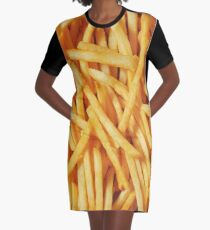 French Fried Potatoes Graphic T-Shirt Dress