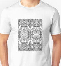 Black and White Paisley Pattern T-Shirt