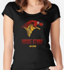 House Iron Stark Sigil and Motto Women's Fitted Scoop T-Shirt