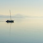 Sailing in tranquility, Passignano sul Trasimeno, Umbria, Italy by Andrew Jones