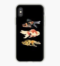 Botanical Fish Trio on Black iPhone Case