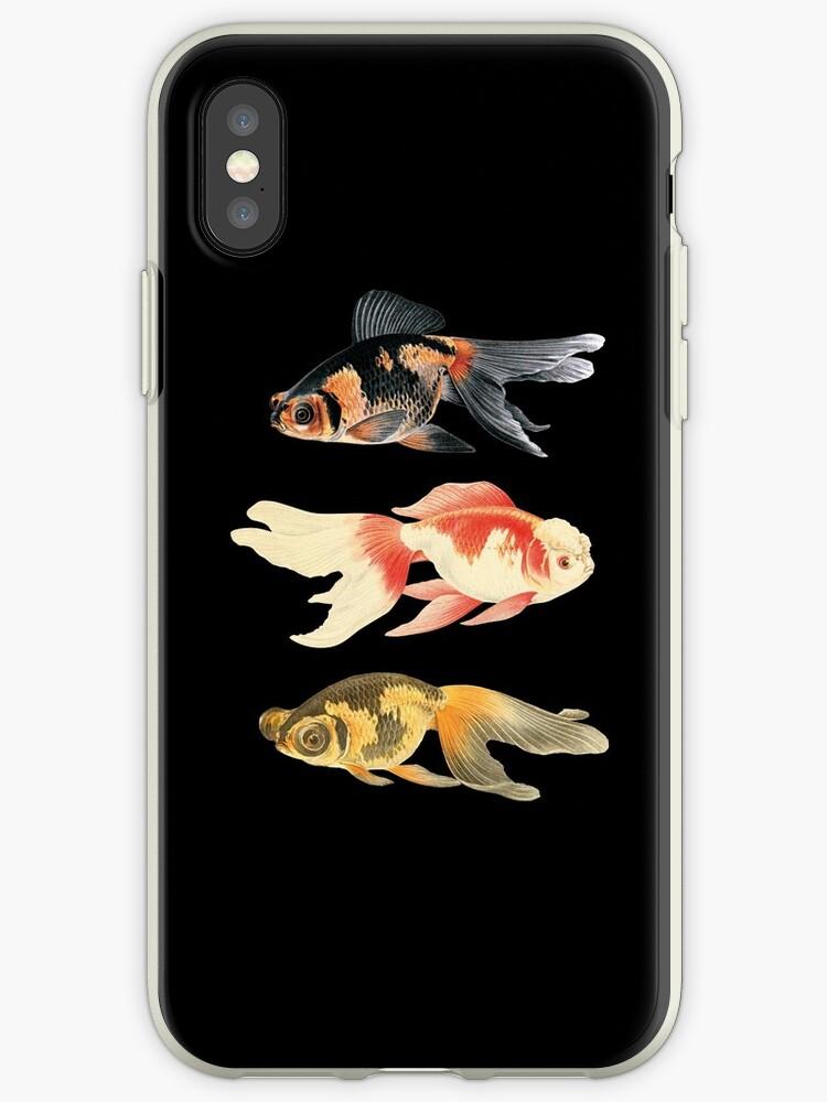 Botanical Fish Trio on Black by Heureux Lifestyle