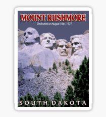 """MOUNT RUSHMORE"" Presidents Sculpture Print Sticker"
