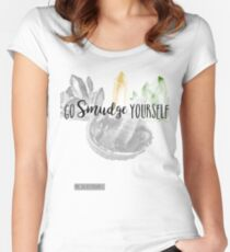 Go Smudge Yourself  Women's Fitted Scoop T-Shirt