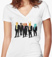 Hotline Miami (Reservoir Dogs) Women's Fitted V-Neck T-Shirt