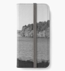 Black and White at the Lake iPhone Wallet/Case/Skin