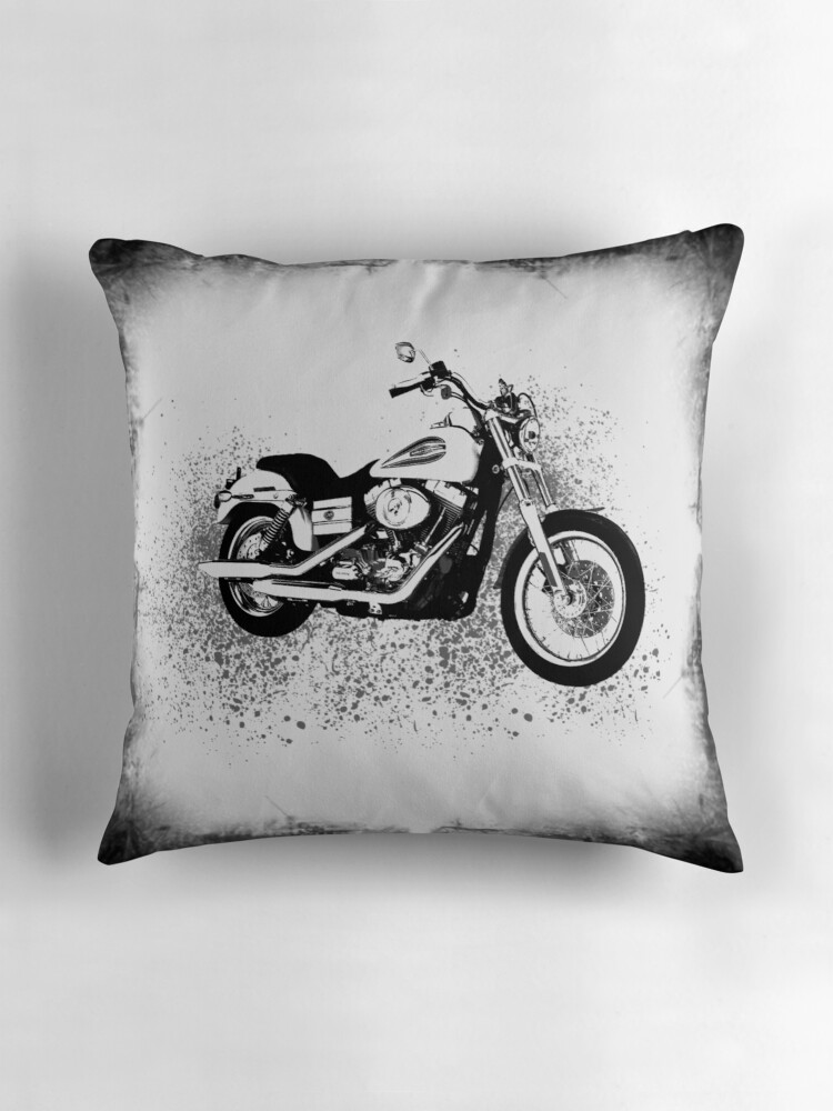 Quot Harley Davidson Quot Throw Pillows By Anchorart Redbubble