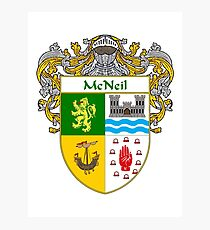 McNeil Coat of Arms/Family Crest Photographic Print