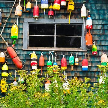 Hanging Fishing Buoy Art by ginawaltersdorf