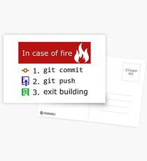 Git on Fire Postcards