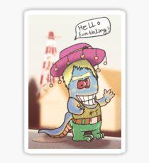 Hello Earthling Sticker