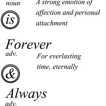 Love is Forever & Always by AandF