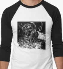 Cthulu Rising Men's Baseball ¾ T-Shirt