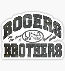 usa new york wood by rogers bros Sticker