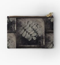 Dark Leaves Under Glass Studio Pouch