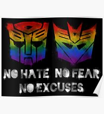 Transformers g1 posters redbubble tf love is universal black text poster m4hsunfo