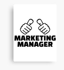 Marketing manager Canvas Print
