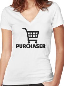 Purchaser Women's Fitted V-Neck T-Shirt