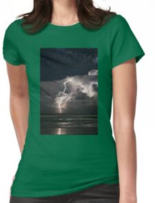 Lightning at Night Womens Fitted T-Shirt
