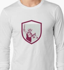 Statue of Liberty Holding Sword Scales Justice Shield T-Shirt