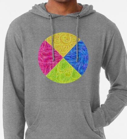 #DeepDream Color Circle Visual Areas 6x6K v1448932478 Lightweight Hoodie