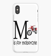 Funny Alphabet: M is for Motorcycle iPhone Case/Skin