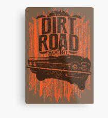 Dirt Road Rider Metal Print