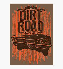 Dirt Road Rider Photographic Print