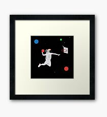 space game Framed Print