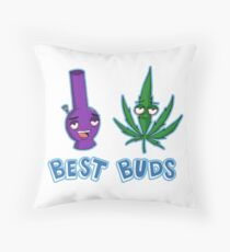 Best Buds Throw Pillow