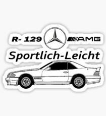 Mercedes 500SL R-129-AMG Sportlich-Leicht Sticker