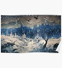 Snow Forest Poster