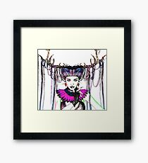 Funky Wood Goddess Framed Print