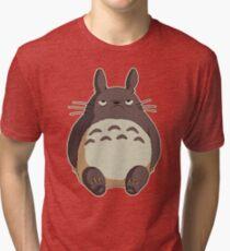 Grumpy Totoro Tri-blend T-Shirt