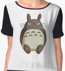 Grumpy Totoro Women's Chiffon Top