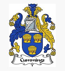 Cummings Coat of Arms / Cummings Family Crest Photographic Print