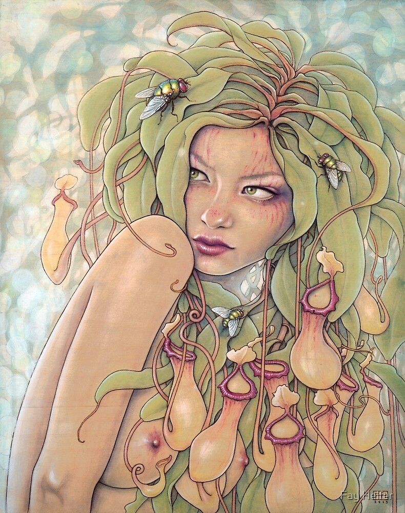 Nepenthes (Pitcher Plant Nymph) by Fay Helfer