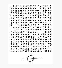 Der Zodiac Killer Cypher Fotodruck